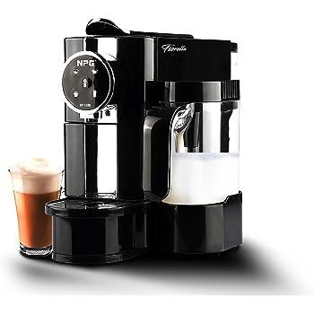 FIORELLA Cafetera NPG NP-150B Compatible con Sistema Nespresso con Jarra espumadora de Leche +