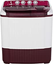 AmazonBasics 7.5 kg Semi-Automatic Top Load Washing machine (Burgundy)