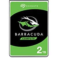 Seagate Barracuda, interne Festplatte 2 TB HDD, 2.5 Zoll, 5400 U/Min, 128 MB Cache, SATA 6 Gb/s, silber, Modellnr…
