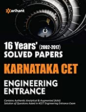 16 Year's Solved Papers Karnataka CET Engineering Entrance