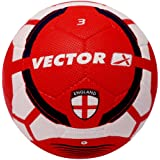 Vector X England Rubber Football  Color : Red White , Size : 3