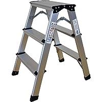 holztritt Multifunktionsleiter trittleiter klappbar Leiterstuhl Hauptbalkon Wohnzimmer Garten Lager 150KG-Gelb A/_2 Schritte