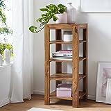 Artella Open Book Shelf, Book Shelve Book Case, Book Rack, Book Storage Organizer for Study Room with Solid Wood Bookcase Cub