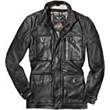 Biker Gear Klassische Vintage Trail Blazer Ce1621 1 Pu Rüstung Motorrad Gewachste Geölte Alter Behandelt Lederjacke Black 4xl Auto