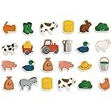 Janod J08157 bondgård magneter av trä, 24 stycken, för barn från 2 år
