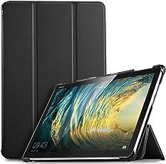 IVSO Huawei MediaPad M5 Lite 10 Hülle, Ultra Schlank Slim zubehör Schutzhülle Hochwertiges PU Leder-mit Standfunktion Perfekt Geeignet für Huawei MediaPad M5 Lite 10 10.1 Zoll 2018 Tablet PC, Schwarz