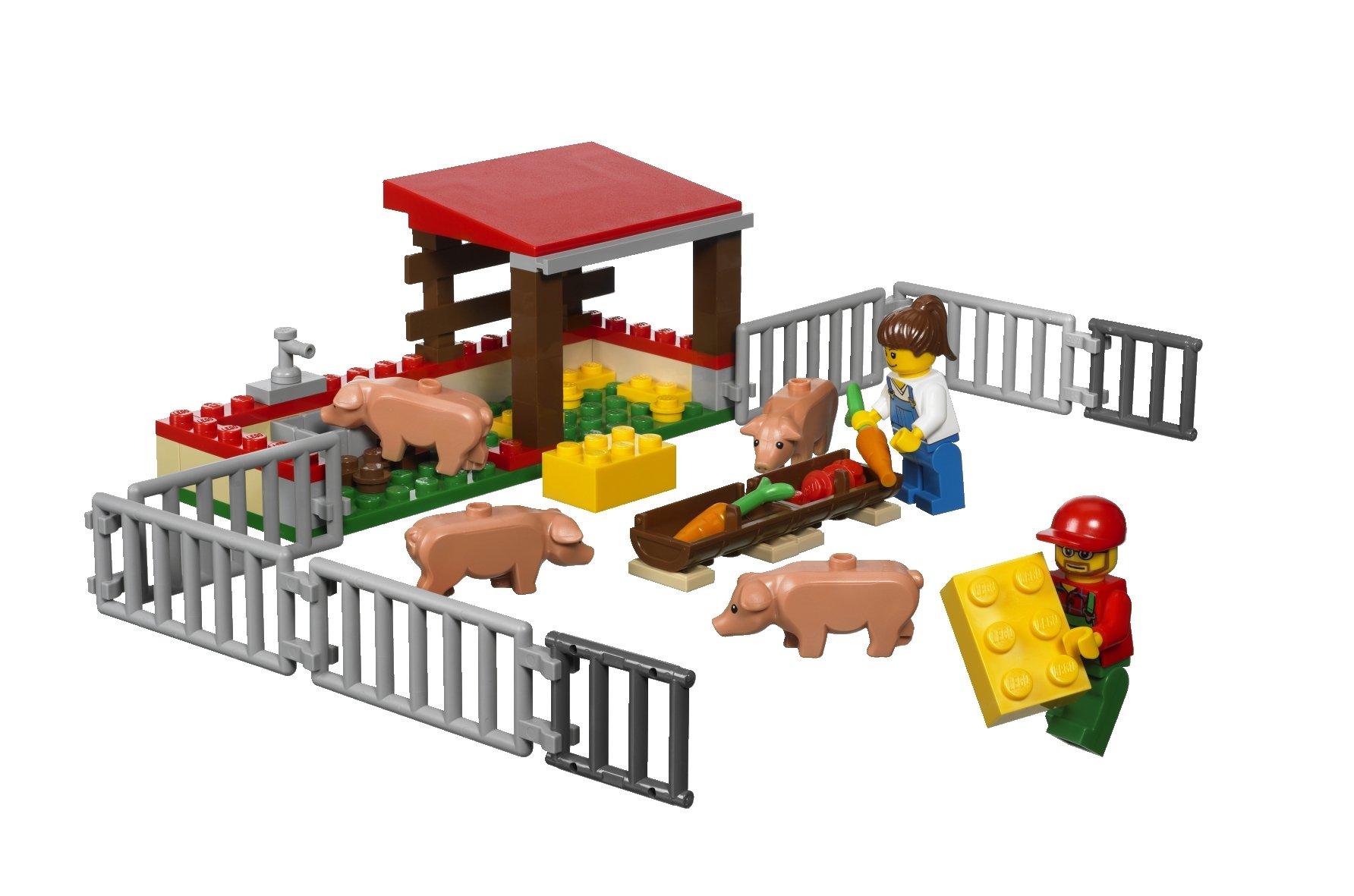 LEGO-City-7684-Recinto-maiali-trattore