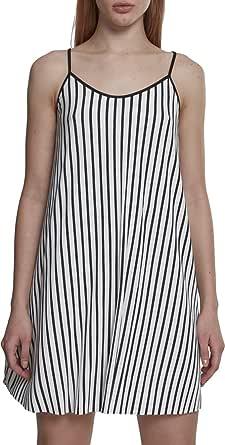 Urban Classics Striped Pleated Slip Vestito Donna