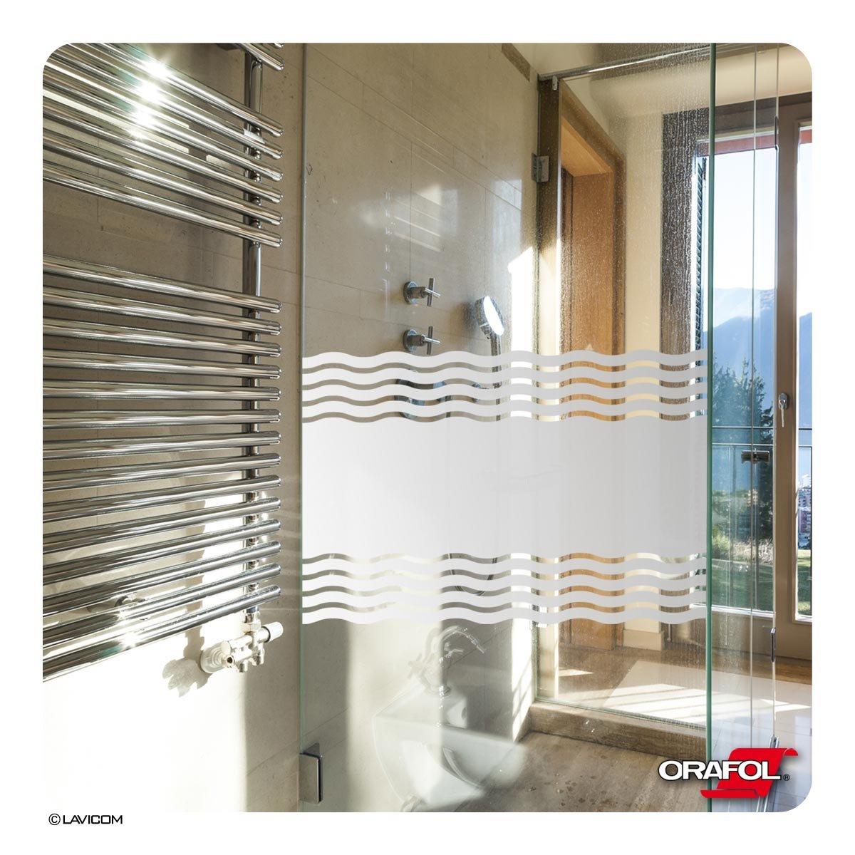 Glasdekorfolie Dusche Folie für Duschkabine Sichtschutz Bad