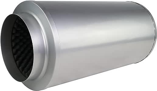Telefonieschalldämpfer Rohrschalldämpfer 150//250x1000mm 50mm Isolierung flexibel