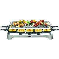 Tefal PR457B12 Pierrade Raclette, 1350 watts, Plaque de cuisson en pierre + 10 poêles à revêtement antiadhésif, y…