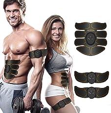 EMS Elektrische Muskelstimulation Speziell für Fettverbrennung bauch, Arme & Beine - muskeltrainer stimulator Elektrostimulation Muskelaufbau und Trainingsgerät,Elektroden Pads, Elektrostimulatoren für Herren Damen Geschenk, Massagegerät
