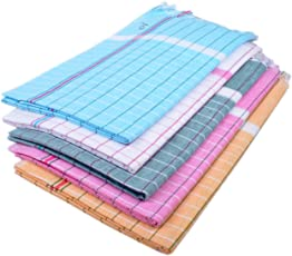 Sathiyas Sunrise Cotton Blend Bath Towel (33x66-inches) - Pack of 5