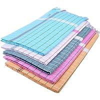 Sathiyas Sunrise Cotton Blend Bath Towel (Blue; White; Green; Pink; Orange; 33 x 66 Inch)-Pack of 5