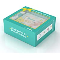 Pampers Premium New Baby Gift Box (Premium Care diapers, Baby Wipes, Onesie, Cards)
