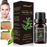 Olio di Albero del Tè,Tea Tree Essential Oil,Olio Di Tea Tree,Oli Essenziali,Allevia irritazioni cutanee comuni, pelle screpo