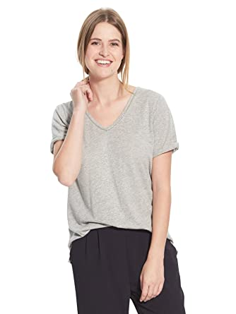 Balsamik - T-shirt - women - Size : 10/12 - Colour : Grey medium mixed  color: Amazon.co.uk: Clothing