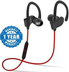Drumstone QC10 jogger Wireless Bluetooth Headphone with Stereo Sound for All Android or iPhone Devices (Color May Vary)