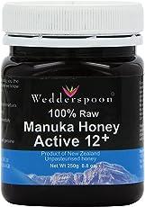 Wedderspoon Organic Raw Manuka Honey Active 12+, 250 Grams