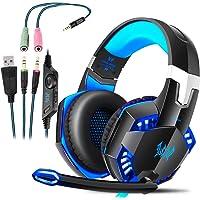 ROXTAK Cuffie Gaming PS4 con Microfono, Professionali Cuffie da Gaming, Bass Stereo, Cancellazione del Rumore e un…