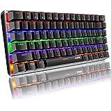 Tastiera meccanica, Tastiera meccanica per giochi con cavo USB retroilluminata a LED Rainbow AK33, tastiera da gioco meccanic