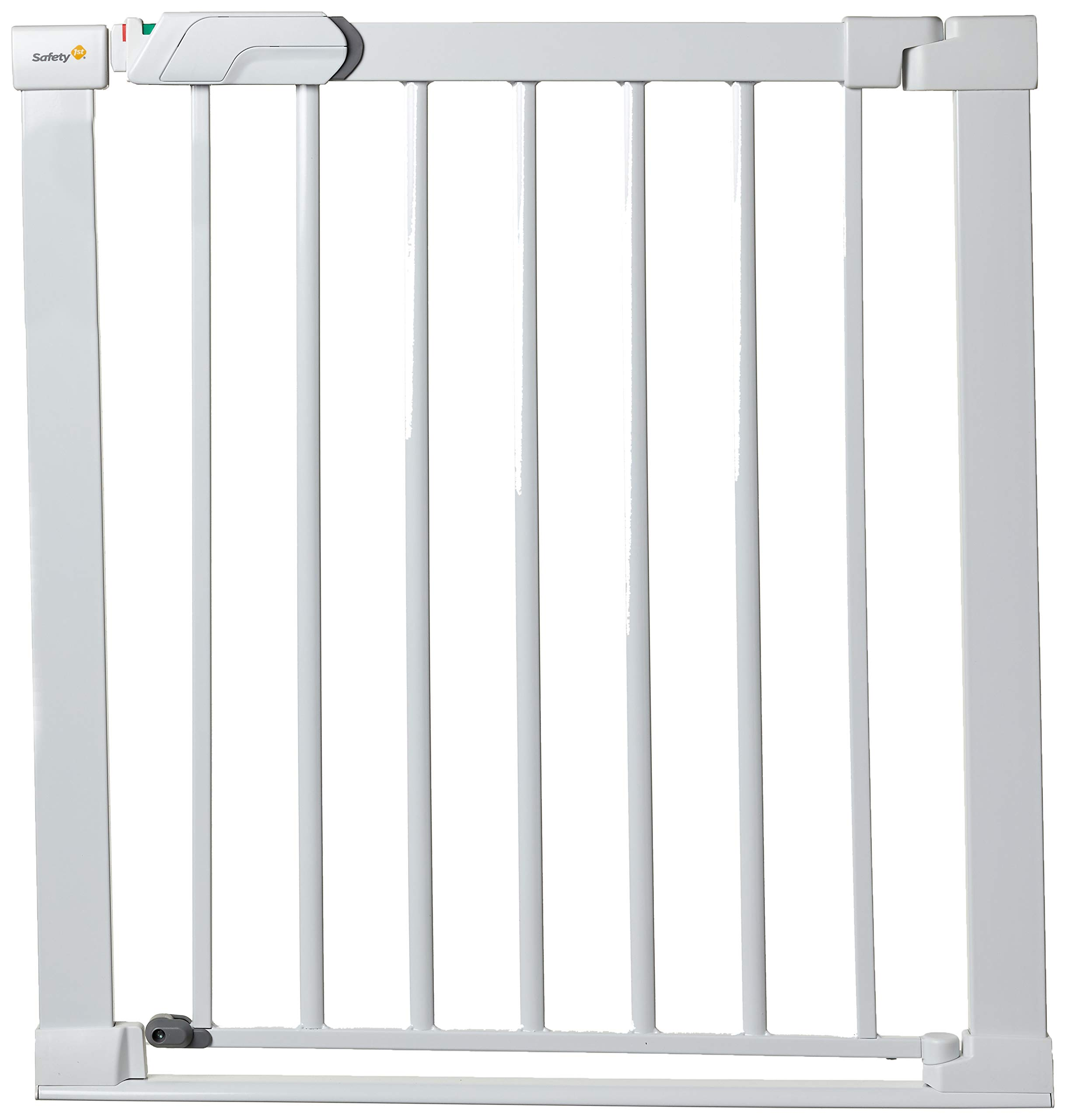 Safety 1st SecureTech Flat Step Practical Safety Metal Gate with Thin Step Over Bar, Ideal for Kids and Pets, 73 to 80 cm, White  Dorel UK Limited