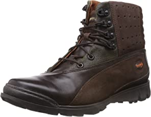 Woodland High Ankle Leather Boots for Men