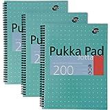2 X A4 Metallic Jotta Wirebound Notebook (Pack of 3)
