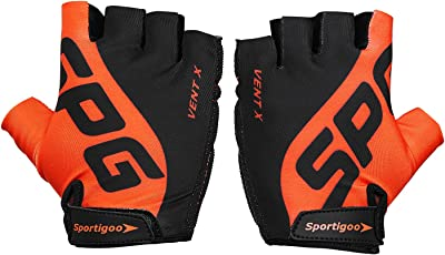 Sportigoo SPG Cycling Gloves - Black/Orange