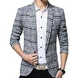 Men's Blazer Plaid Blazer Button Slim Fit 1 Modern Casual Suit Jackets Spring Basic Business Men's Blazer Lapel Men Casual Me