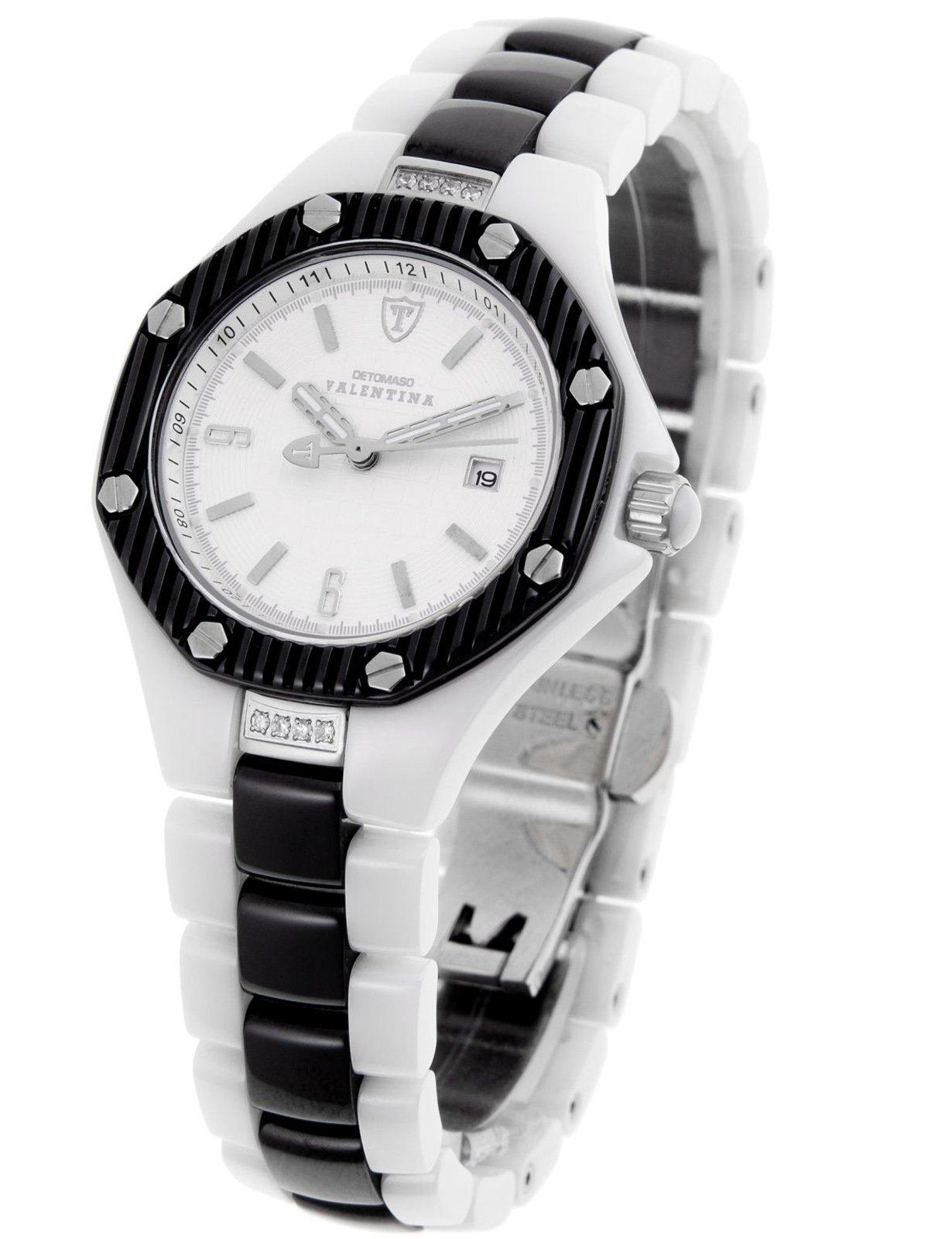 Detomaso DT3005-E – Reloj analógico de Cuarzo para Mujer con Correa de cerámica, Color