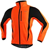 ARSUXEO Cycling Jacket Mens Waterproof Windproof Softshell Winter Thermal Breathable Bike Outerwear 15K