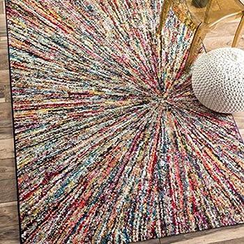 UN AMOUR DE TAPIS - tapis salon boutik impact noir, blanc, rose, bleu,  gris, jaune, orange, violet, rouge, vert, gris - 160 x 230 cm - tapis  moderne ...