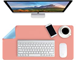 Tocawe Desk Pad, 40 x 80cm Office Desk Mat, Waterproof PU Leather Desk Table Protector, Easy Clean Laptop Desk Writing Mat fo