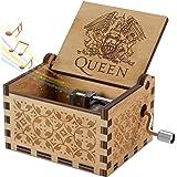 Evelure Carillon di Legno Tema di Queen, Scatole Musicali in Legno Intagliate a Mano e Intagliate a Mano Creativi I Migliori