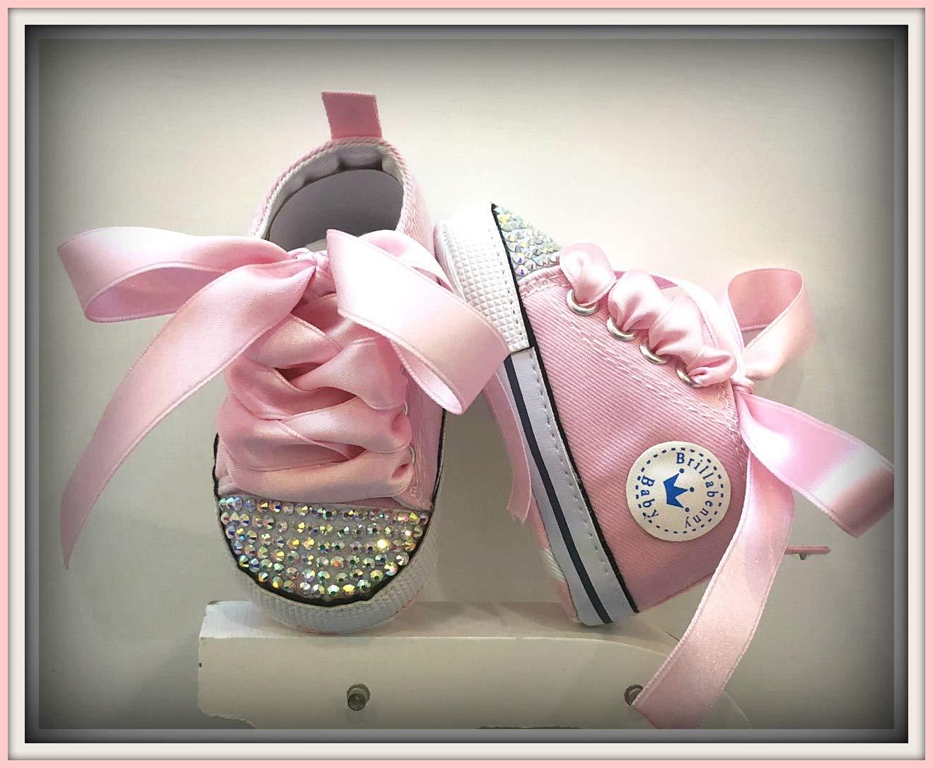 7c9859c9bd BrillaBenny Scarpine Scarpe Sneakers Strass Bimba Neonato Bambina Rosa/Baby  Shoes Pink Birthday Party Events Princess Rhinestone Crystal Diamond Bling  ...