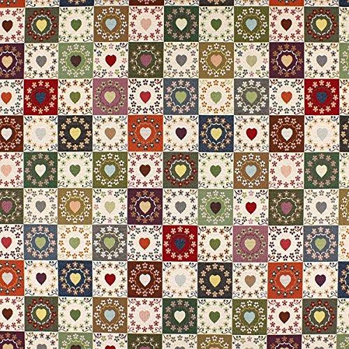 Jacquard-stoff-tasche (Fabulous Fabrics Gobelin Herzlich wollweiss - Meterware ab 0,5m - zum Nähen von Kissen, Vorhänge und Taschen)