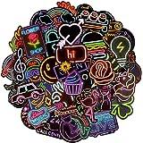 Afufu Paquete de Pegatinas 50-Pcs Pegatinas Vsco, Impermeable Pegatinas Moto Graffiti Stickers Vintage para Laptop, Coche, Ma