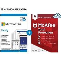 Microsoft 365 Family 12+3 Monate Abonnement   6 Nutzer   Mehrere PCs/Macs, Tablets/mobile Geräte   Download Code…