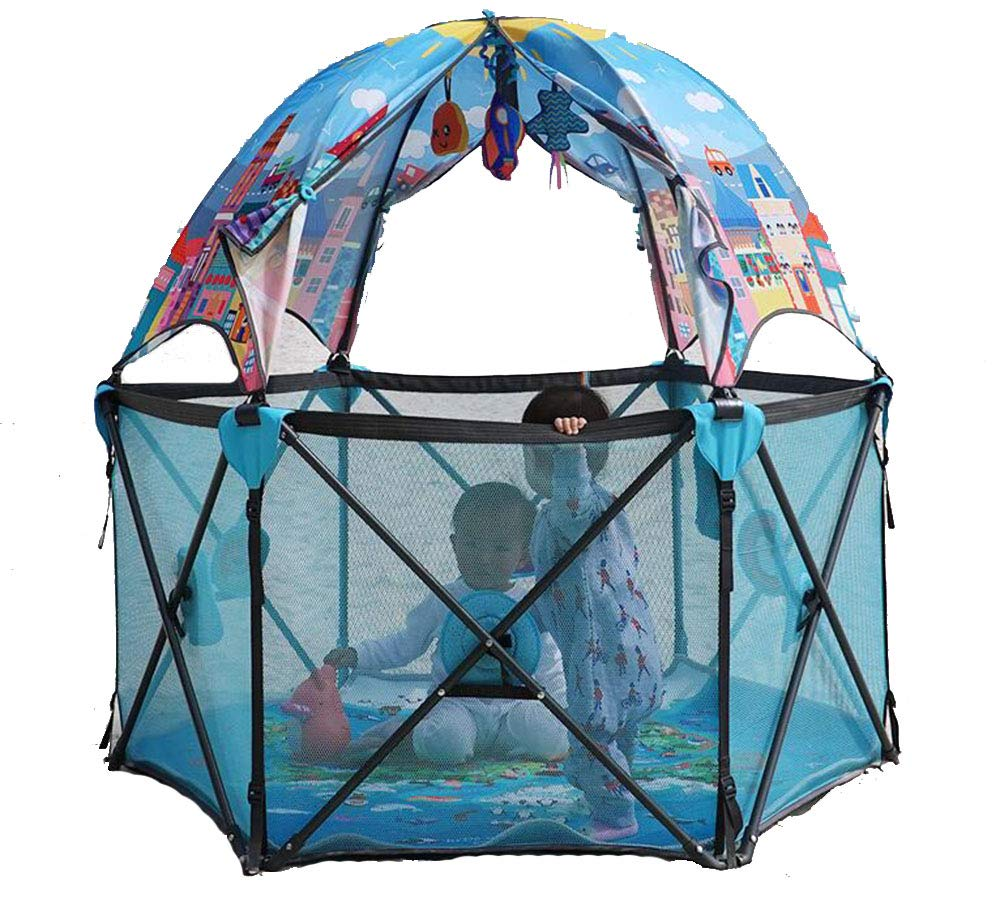 Playard Playpen Portable Washable Aqua Play Center Fence with Carry Case Indoor and Outdoor Play AA-SS-Playpens