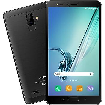 Tableta de 6,5 Pulgadas 3G/WiFi VMOBILE 2 en 1: Moviles Libres Android 7.0 / Tablet Android 7.0, SIM Dual Pantalla IPS HD de 8 MP de Quad-Core 2GB+16GB, Bluetooth/GPS 3600mAh (Negro)