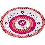 Lässig 1310009717 Teller mit Silikonboden, Wildlife Löwe, rosa