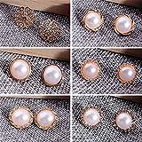 Zorux 6Pcs/Anzug Mode Ohrringe Geometric runder Kreis-Perlen-Blumen-Ohrring-Bolzen f¨¹r Frauen Schmuck Geschenke