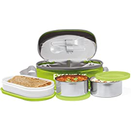 Milton Sth Executive Lunch Box With 3 Leakproof Containers, Green