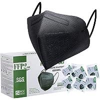 FFP2 Maske CE Zertifiziert Schwarz - 25 Stück Maske - Premium hygienische Einzelnverpackung Atemschutzmaske 5 Lagige…