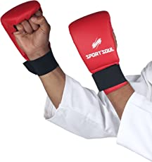 Sportsoul Classic Karate Gloves Red, Size- Normal