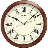 سيكو ساعة حائط بلمسة خشبية دائرية