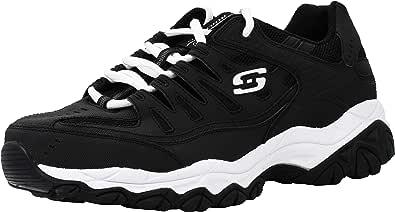 Skechers Men's After Burn Memory Fit Low Top Shoes Black