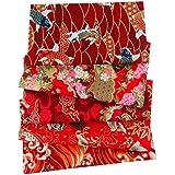 Nicole Knupfer 50 x 50cm Style Japonais Textile Tissu Coton Carrés DIY Patchwork Vêtements Sewing Artisanat - 5pcs (#6)