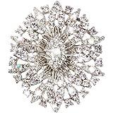 Elesong Moda Rhinestone Broche Cristal Flor de la Boda Broche Ramo Vestido Formal Ramillete Broche Accesorios de Joyería para